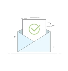 Concept icon open an email with a sheet of paper vector image