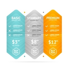 Pricing List vector image vector image