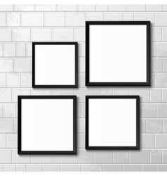 Realistic picture frames vector