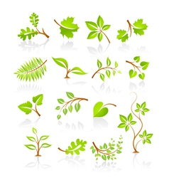 Set of nature icons vector image vector image