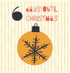 6 days until christmas vector image