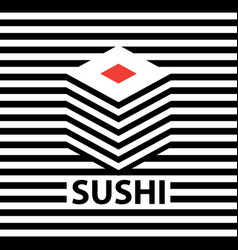 banner with a picture of sushi vector image