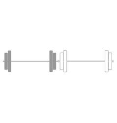 Barbell grey set icon vector