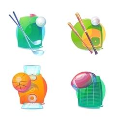 basketball and baseball golf rugaccessories vector image