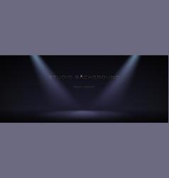 black empty room illuminate two spotlights soft vector image