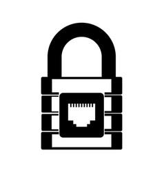 Black icon padlock cartoon vector