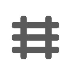 black railroad icon vector image