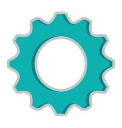 blue gear icon vector image