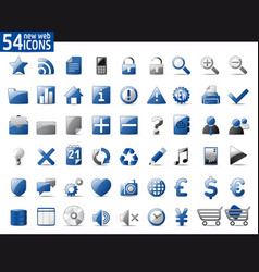 Blue web icons vector