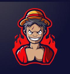 Boy mascot logo vector
