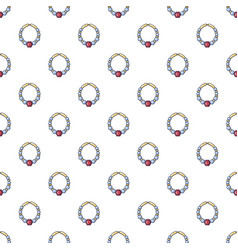 bracelet with ruby pattern seamless vector image vector image