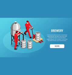 brewery isometric banner vector image