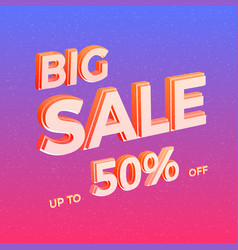 bright sale banner colorful advertisement vector image