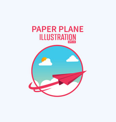 cartoonist 3d paper plane background concept vector image