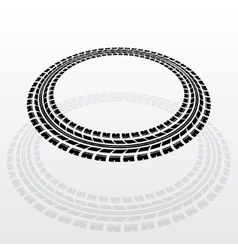 Circle tire track with shadow vector