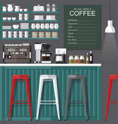 coffee bar modern style vector image