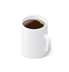 coffee mug isolated on white background isometric vector image vector image