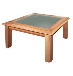 Coffee table vector