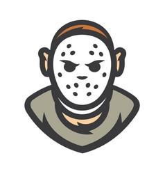 crazy maniac halloween mask cartoon vector image