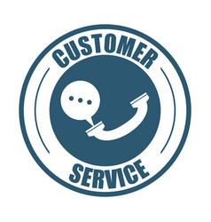 customer service telephone bubble speech vector image