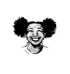 Cute african american young girl laughing vector