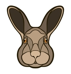 Drawing head a rabbit hare vector