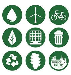 Eco city design eps10 graphic vector