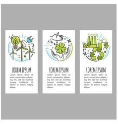 ecology green technology organic bio vector image