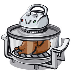 Electric grill appliance vector