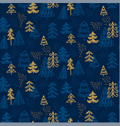 Elegant seamless pattern of christmas trees vector
