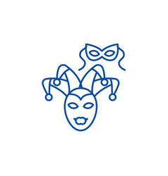 eye maskmasquerade line icon concept eye mask vector image