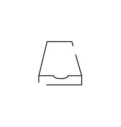 File box icon vector