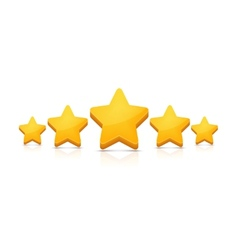 Five stars on white vector