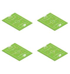 football stadium soccer set concept 3d isometric vector image