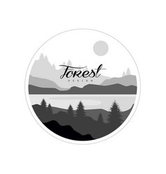 Forest logo design beautiful nature landscape vector