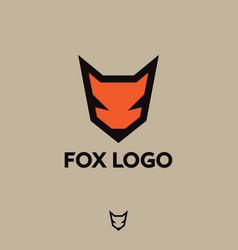 Fox logo fox emblem vector