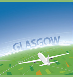 Glasgow flight destination vector