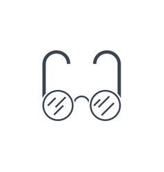 glasses related glyph icon vector image