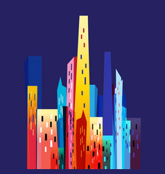 graphic modern city vector image