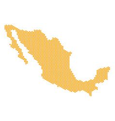 Honeycomb mexico map vector