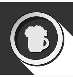 Icon - beer with shadow vector