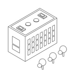 Isometric urban infrastructure houses and vector