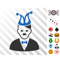 Joker hitler icon with bonus vector