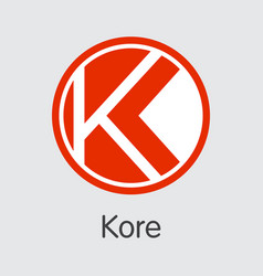 Kore cryptocurrency kore element vector