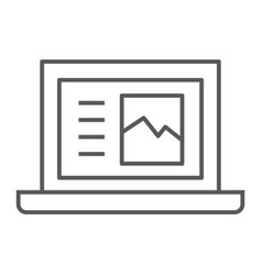 laptop thin line icon computer and digital vector image