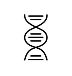 line dna science cell medicine molecule vector image