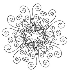 Mandala lace vector image