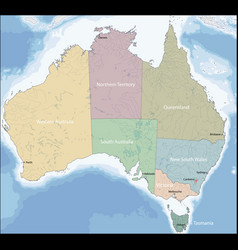 Map australia vector