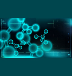 molecule background science chemical vector image