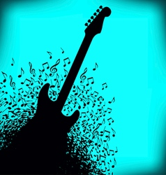 Notes Guitar vector image